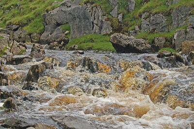After heavy rains these streams take on the appearance of malt whisky!