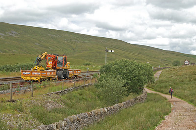 Surreal transport on the railway north of the viaduct.
