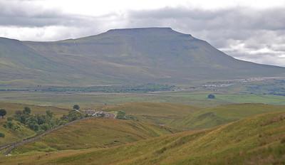 Ingleborough from the slopes of Whernside