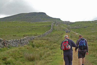 Climbing steadily towards Pen-y-ghent