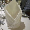 The way napkins were folded in First Class dining room on TITANIC.