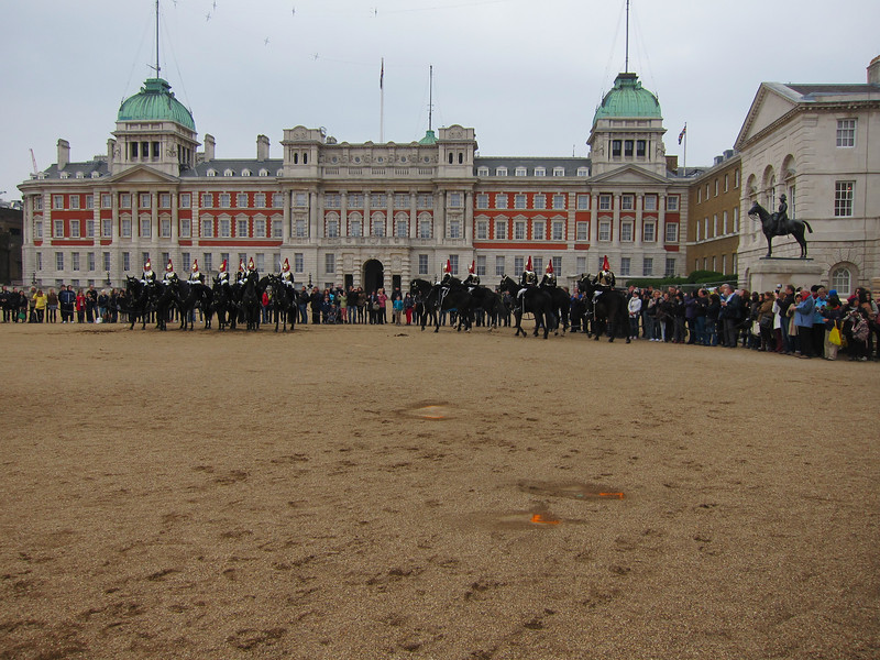 Changing of the entire Horse Guard, vicinity of Buckingham Palace.