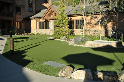 Putting green at the North Building