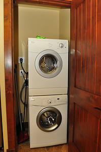 Washer/dryer combo in kitchen