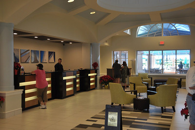 Guest registration lobby