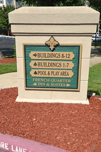 The sign might list buildings 7 to 12 but there are only 6 buildings. Building 7 was foreclosed upon when the original developer went bankrupt and now appears as if it's being sold as full ownership condos under the name Branson Kingsgate.