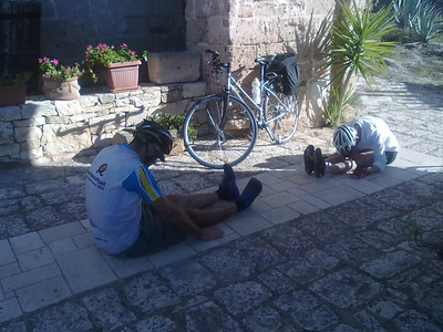 Pilates pre-ride in Puglia, Italy