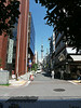 After leaving the shrine, looking east to the Tokyo Skytree