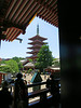 Gojūnotō, the five-story pagoda, as seen from Kannondō (Kannon Hall)