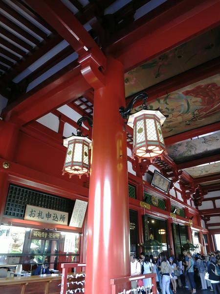 The ceiling inside Kannondō (Kannon Hall)