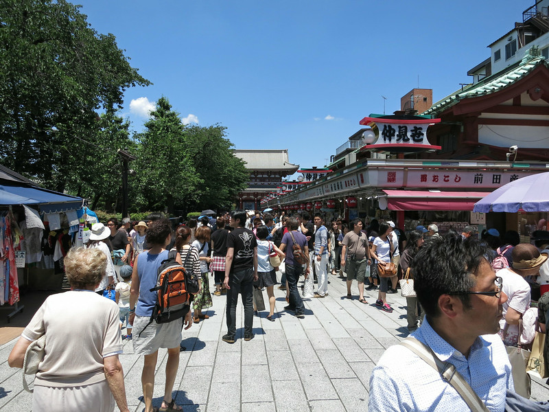 Walking north, getting closer to Hōzōmon Gate. Marian and Aliza at lower left.