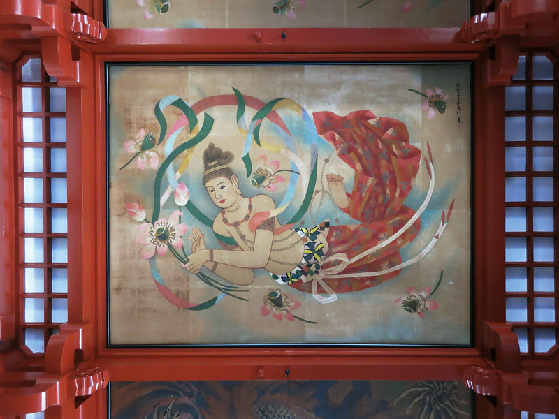 One of the ceiling panels in Kannondō (Kannon Hall)