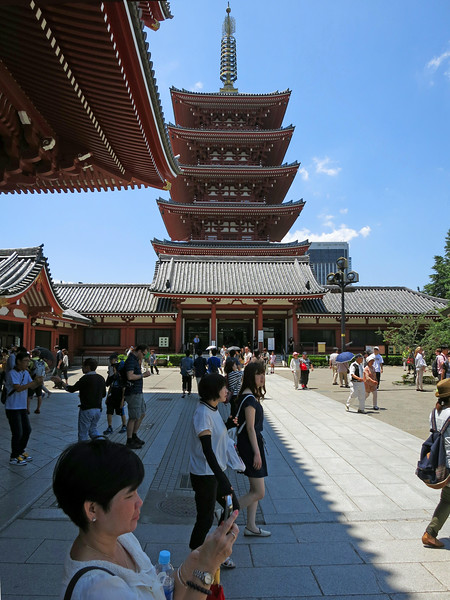 As we came through Hōzōmon Gate, looking left (west) is Gojūnotō, the 5-Story Pagoda. This entire area was destroyed in WWII bombing.
