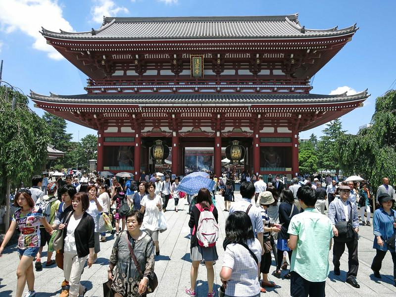 Hōzōmon Gate, south face