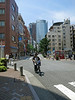 Looking back at Mori Tower from Azabu Juban