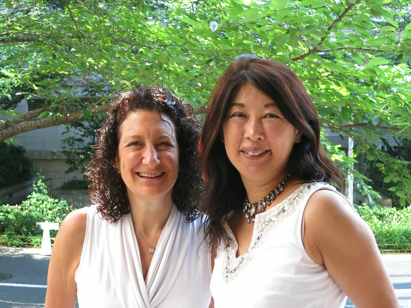 Aliza with Yoriko Soma, at brunch