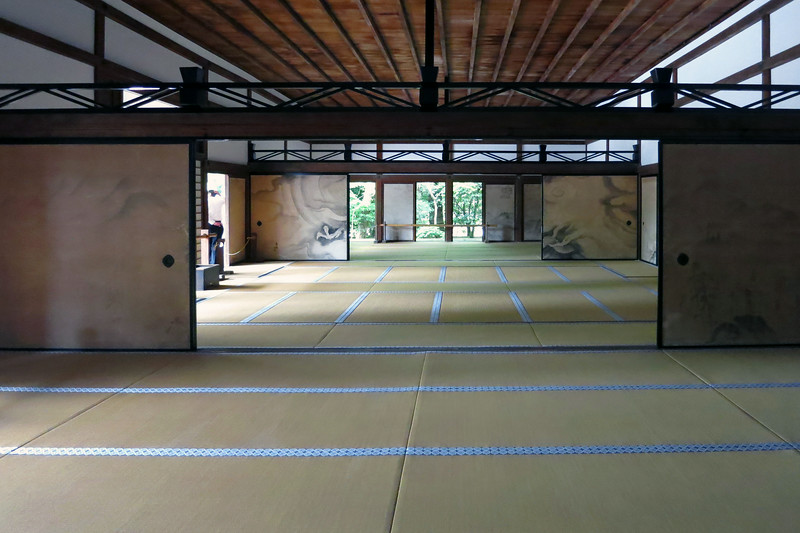 After visiting the bamboo forest, we're back at the Ryoanji Temple