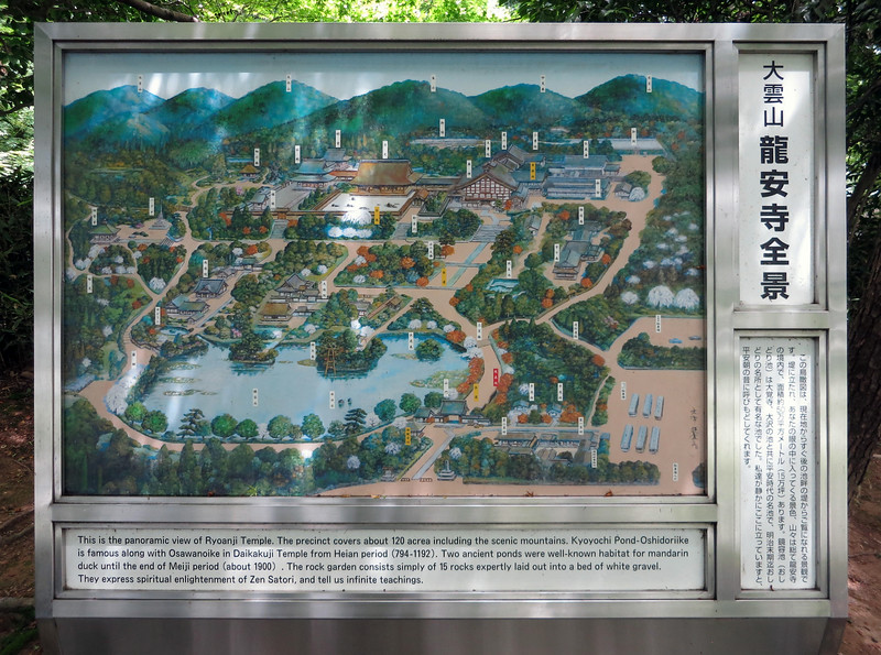Ryoanji Temple site map