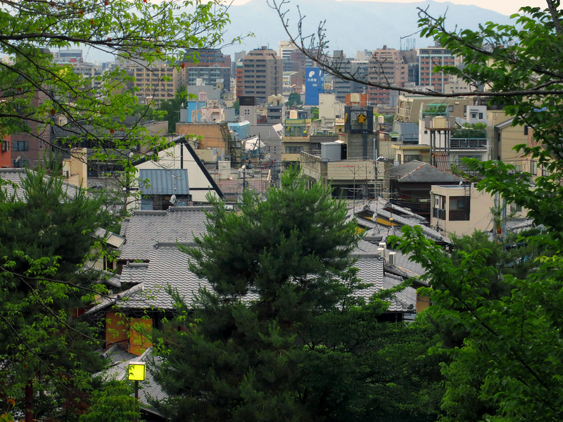 Kyoto's downtown skyline (height is restricted)