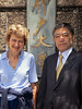 Marian Knox with Prof. Seiichi Fujita, Exec. VP, Kobe University