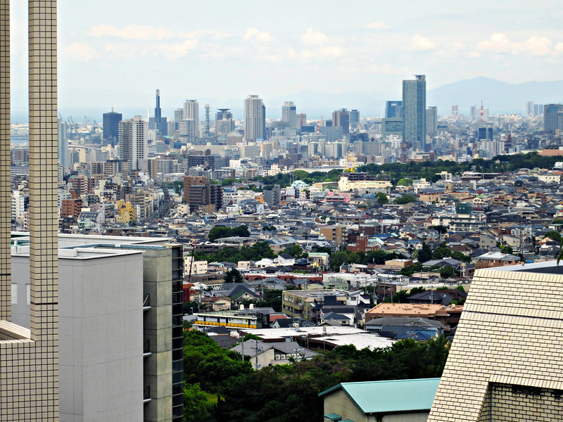 Fujita's office and the university look over the city of Kobe