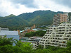 The campus lies at the foot of Mount Rokko ...