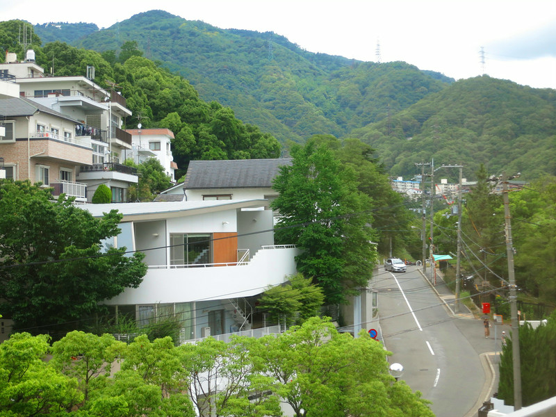 ... and the surrounding streets are hilly