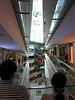 The  triangular atrium of the Omotesando Hills shopping mall