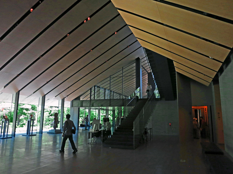 Nezu Museum lobby and stair to second floor