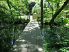 Walkway across pond, from service court to Nezu Museum