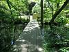 Walkway across pond, from service court to Nezu Museum