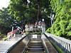 Top of the escalator to Hie-Jinja Shrine. Aliza took the steps.