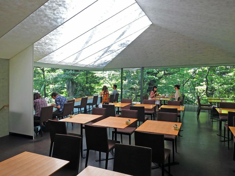Nezu Cafe, canvas ceiling.