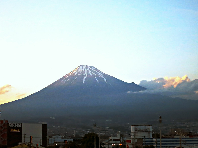 Sunset: Mt. Fuji at 180 mph