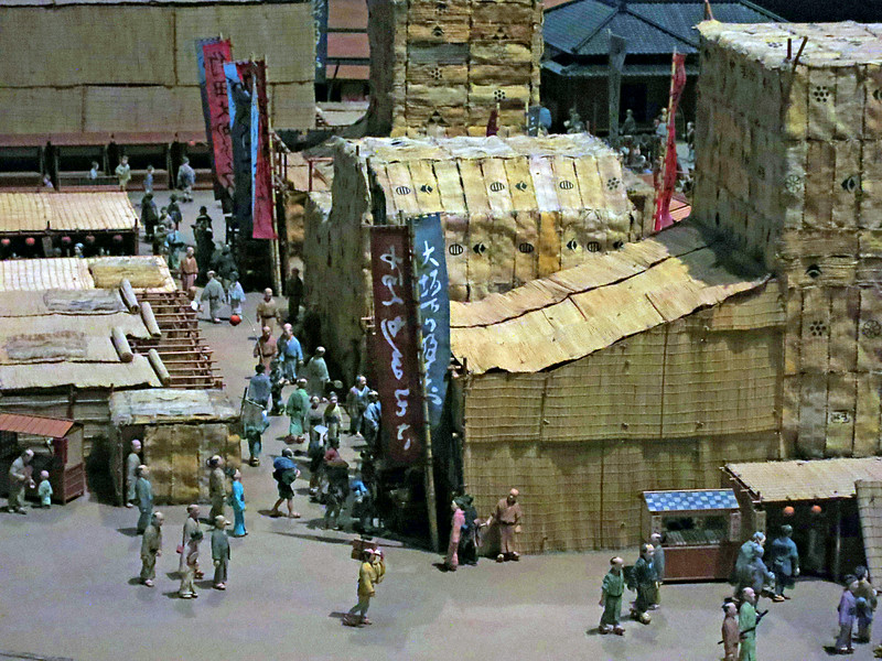Scale model of Tokyo life in earlier centuries