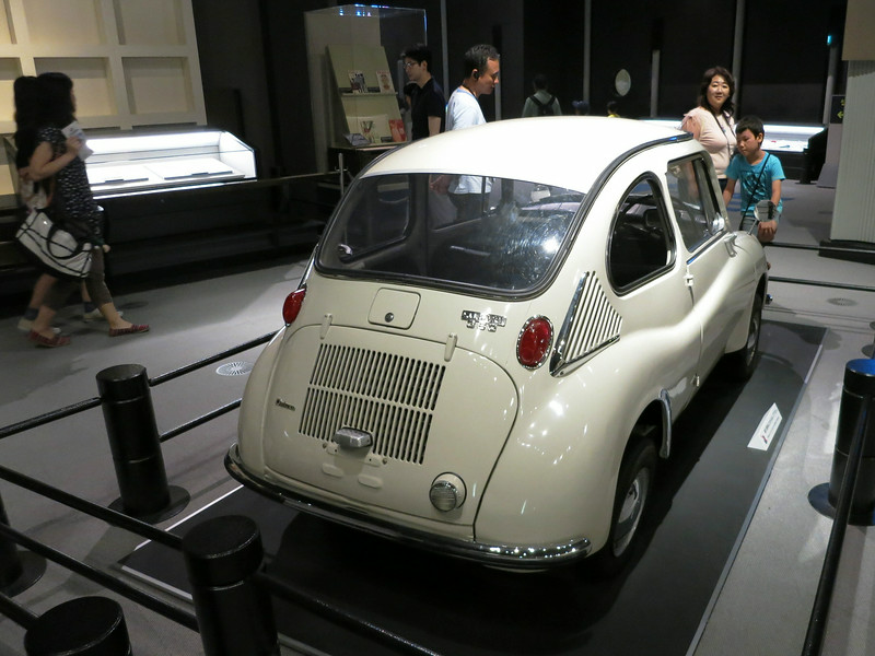 "The first Japanese ""light car,"" a Subaru 360"