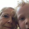 Zachary takes a selfie of himself and grandma
