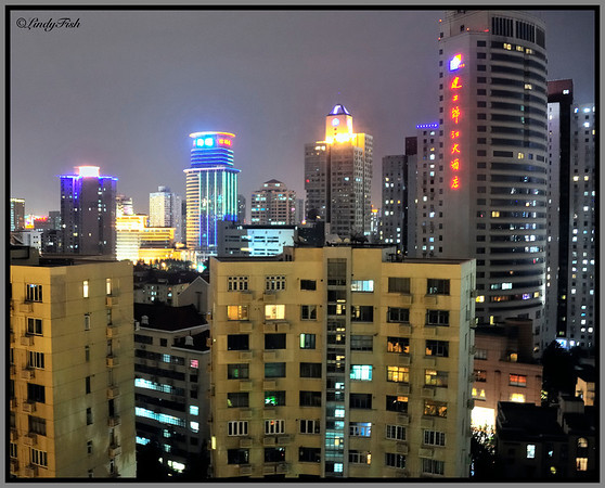 View from our room in Shanghai