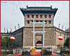 Xi'an City Wall was erected in the 14th century Ming Dynasty, under the regime of Emperor Zhu Yuanzhang. It's the most complete city wall that has survived in China, as well being one of the largest ancient military defensive systems in the world.
