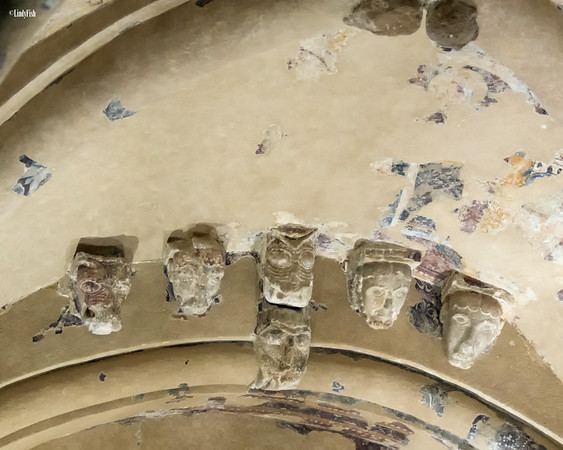 The carved heads of Cormac Chapel