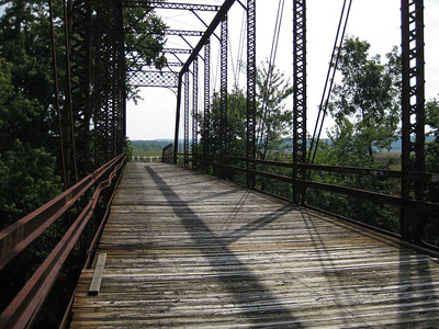 The Iron Bridge, near Medora, Indiana.
