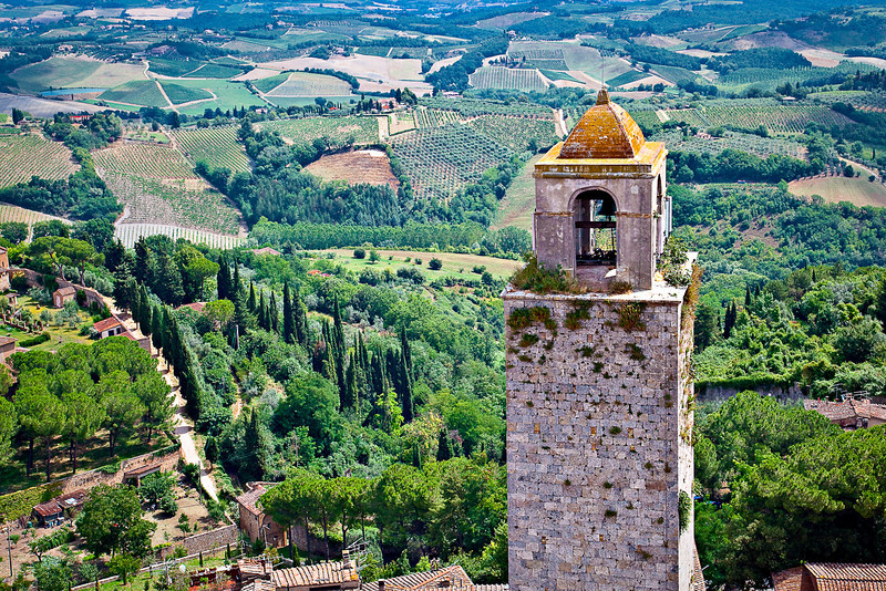 BELL TOWER IN SAN GIMIGNANO
