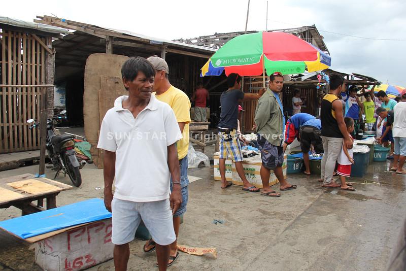 Fish market in Barangay Sagkahan, Tacloban City, Leyte, Philippines