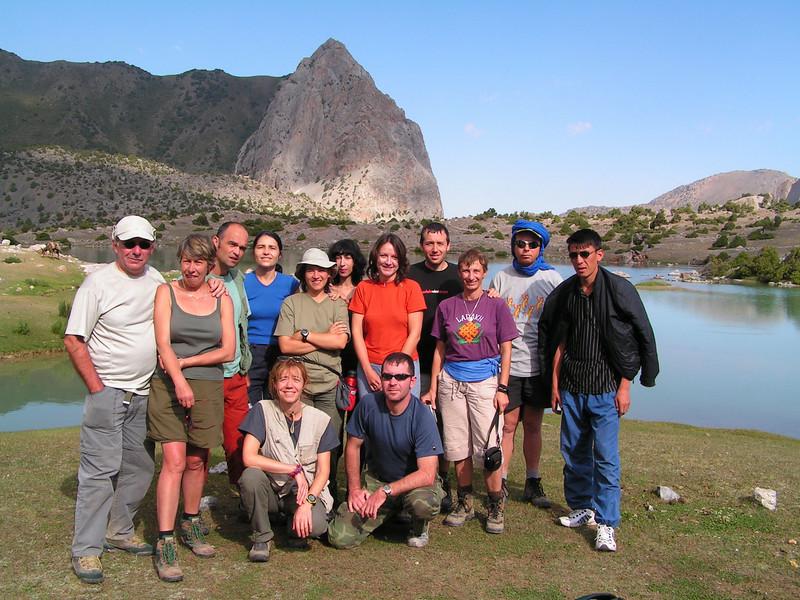El grupo que hicimos la ruta de 4 días en el Pamir