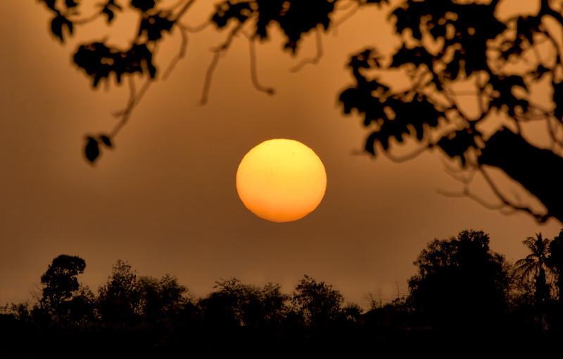 A nicely framed Sunset