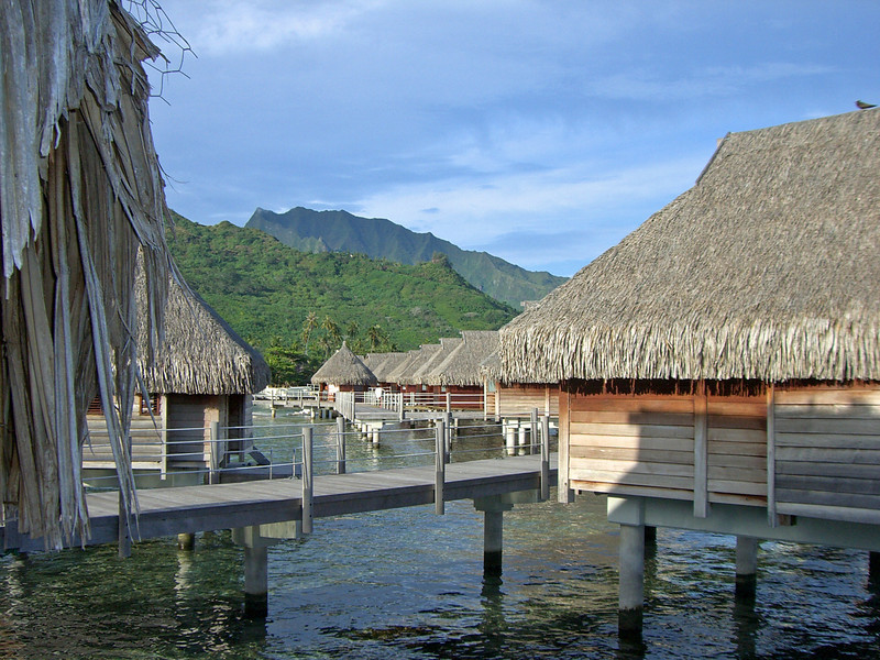All the overwater bungalows were beautiful but the ones on the southern side were built right on the side of the lagoon.  Pat and I could jump off our lanai and be in 20 to 30 foot of water...Was neat...