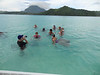 Day with the rays at Bora Bora