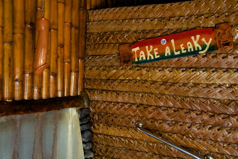 Men's Room at Bloody Mary's, Bora Bora