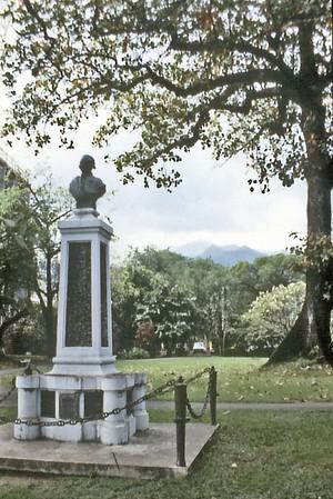 Monument to Cook Papeete Tahiti - Sep 1978