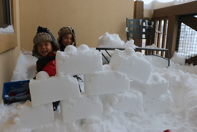 snow wall built by m, r and mommy!